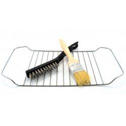 Žična ščetka za grill in čopič za mazanje (komplet)1